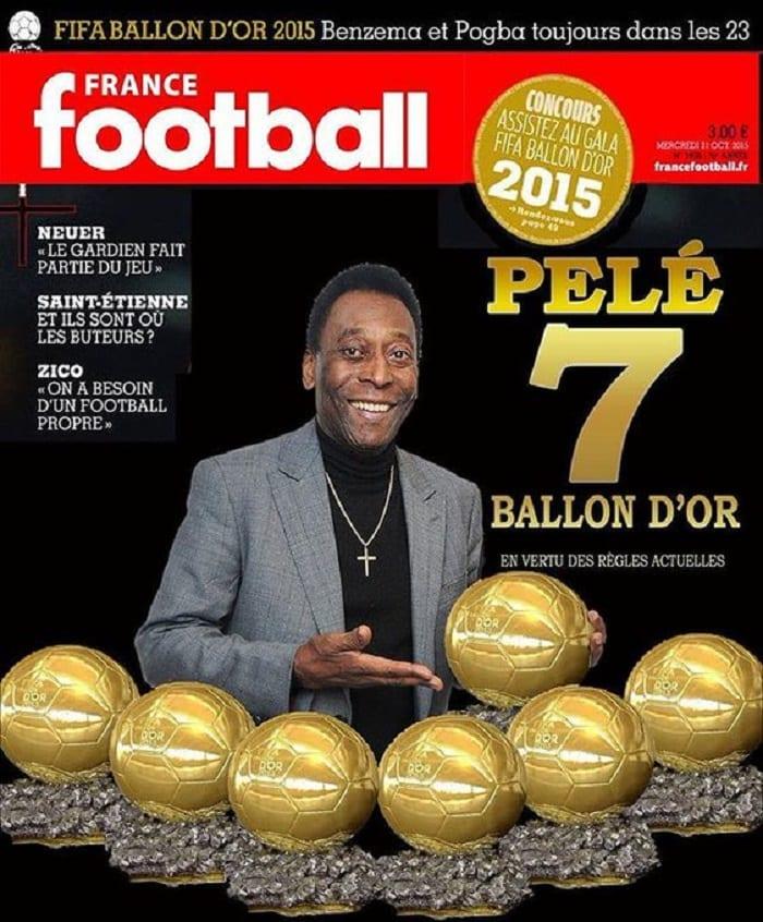 La légende brésilienne, Pelé détient le plus grand nombre de ballon d'or, Messi largement derrière lui