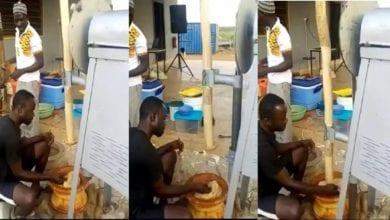 Photo de Une nouvelle machine à piler le foutou construite au Ghana: Vidéo