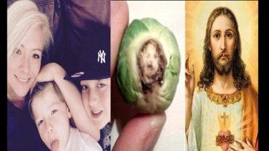 Photo de Angleterre: une mère prétend avoir vu le visage de Jésus dans un légume (Photo)