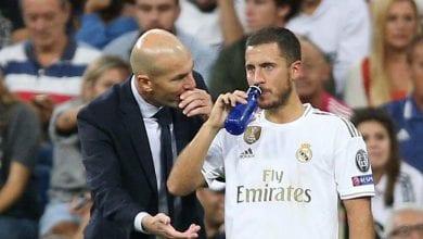 """Photo de Real Madrid: le message de Zidane à Eden Hazard pour cette année """"2021"""""""