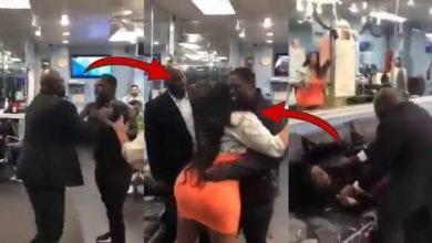 Photo de Vidéo: un homme jaloux bat son ami pour avoir trop étreint sa femme