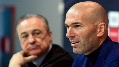 Photo de Réal Madrid: le président Florentino Perez convoque une réunion en urgence avec Zidane