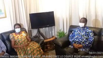 """Photo de Côte d'Ivoire/ Simone Gbagbo, chez Bédié, précise:"""" Je ne suis pas venue pour parler de politique"""""""