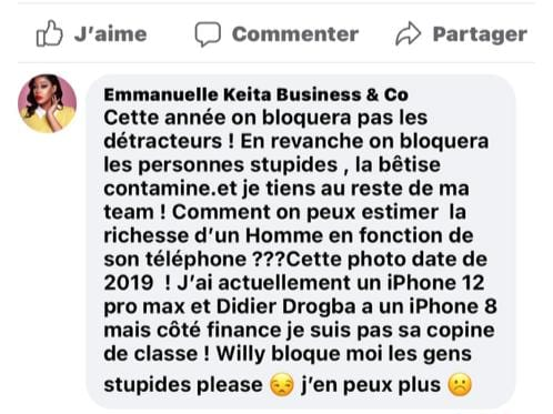 Côte d'Ivoire/ Emmanuelle Keita: sa nouvelle résolution qui choque