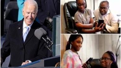 Photo de Joe Biden invite une famille nigériane à la Maison-Blanche-La raison! (vidéo)