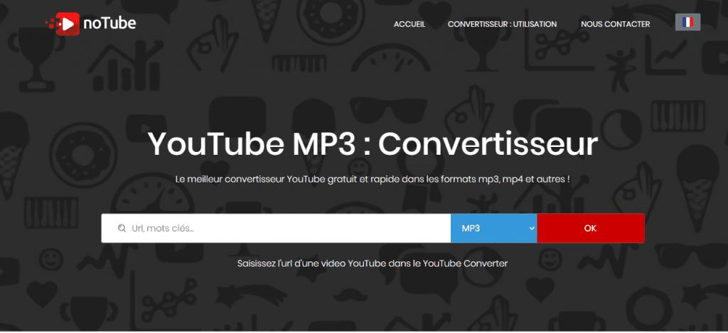 YouTube MP3 : noTube / Le meilleur convertisseur YouTube entièrement gratuit